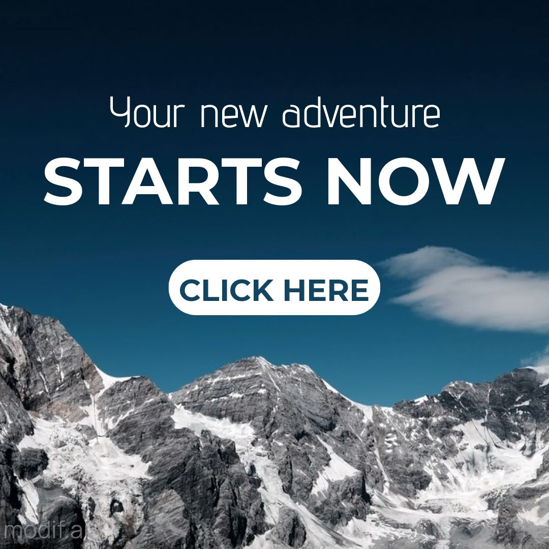 Free High Mountains Banner Template