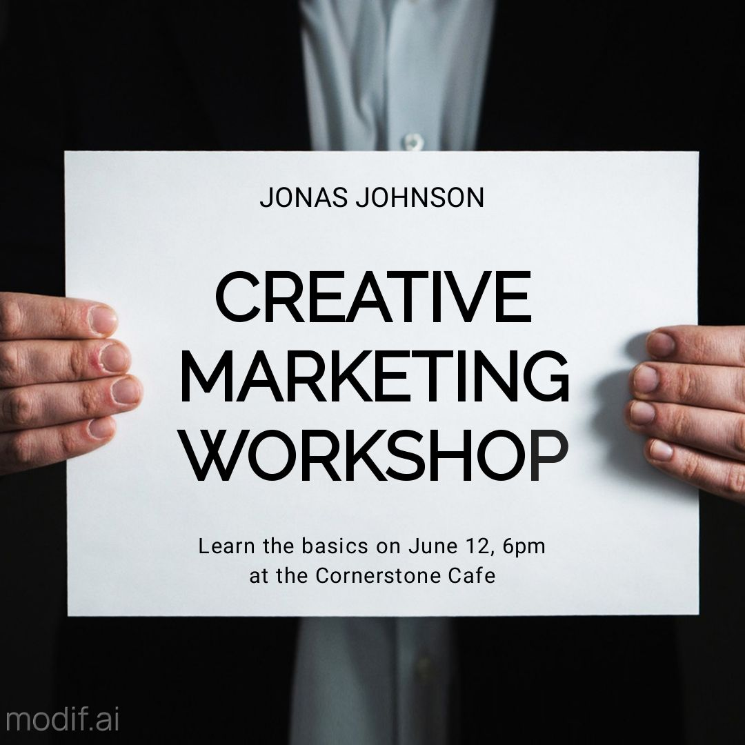Free Creative Marketing Sign Instagram Post