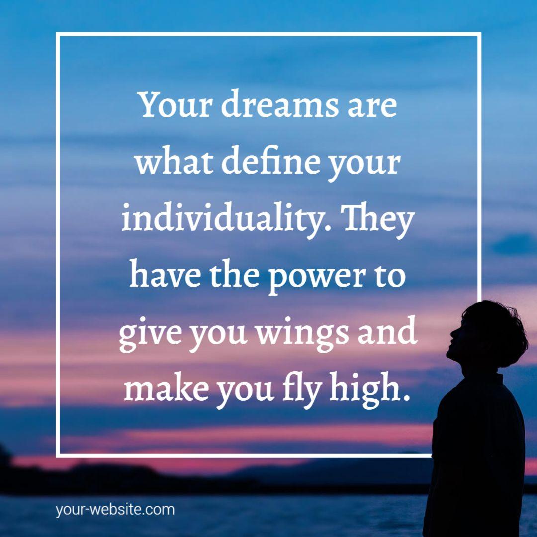 Free Dreams and Motivation Instagram  Post Maker