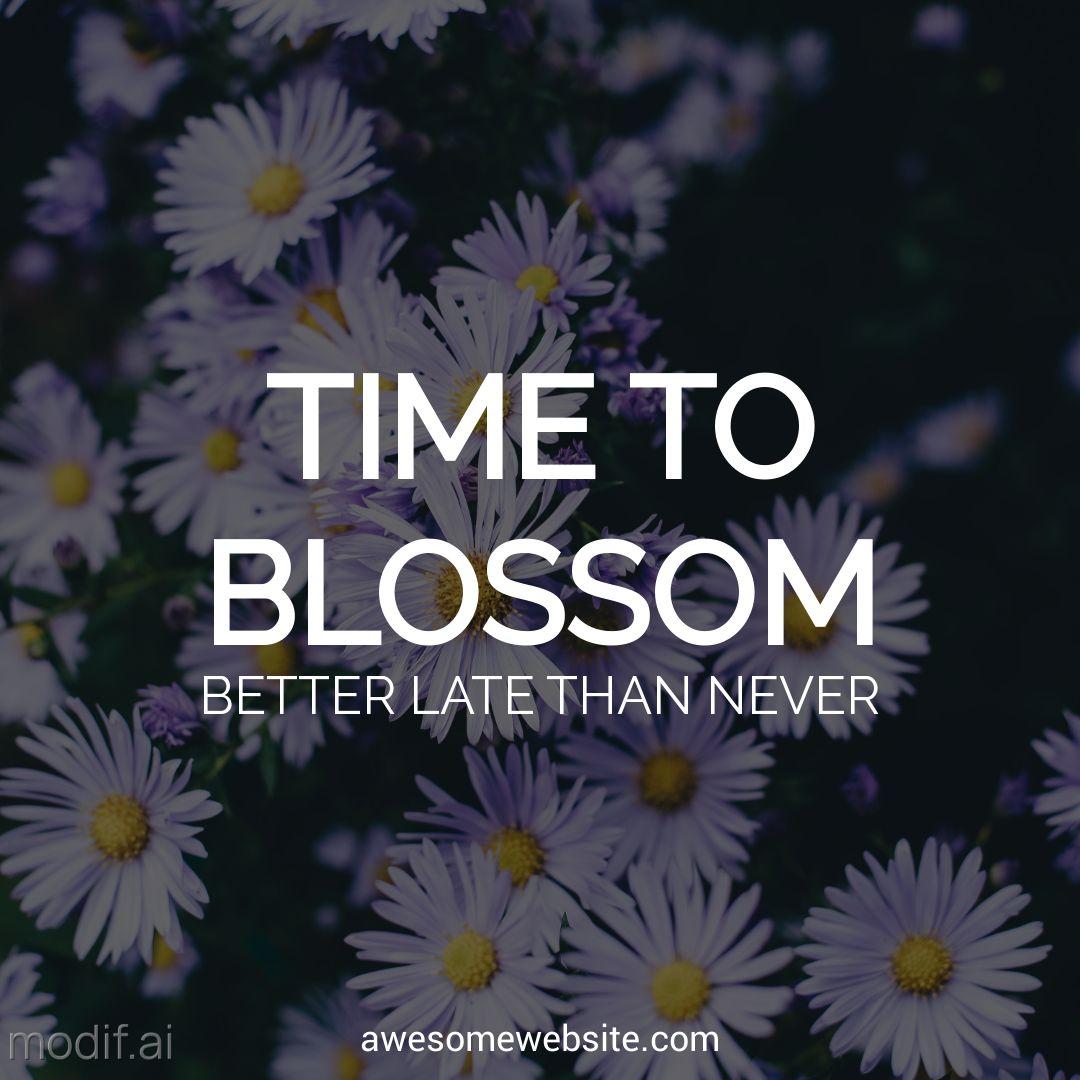 Free Flower Blossom Instagram Post Maker