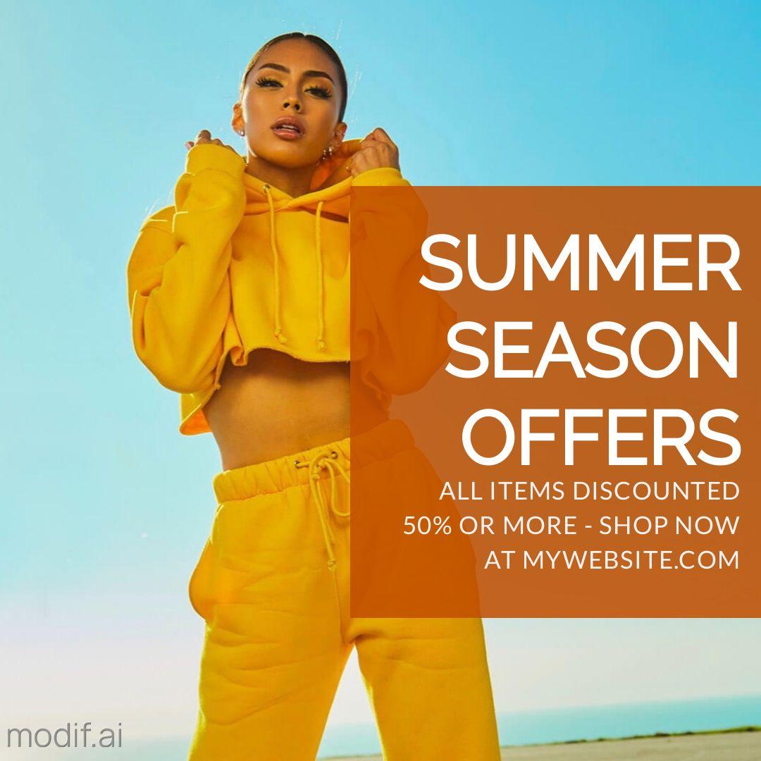 Free Fashion Summer Sale Instagram Post Maker