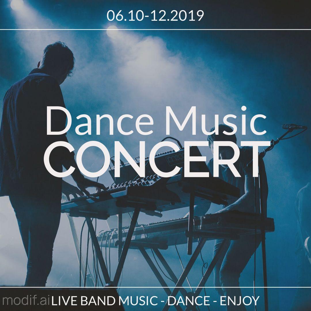 Dance Music Concert Instagram Banner Template
