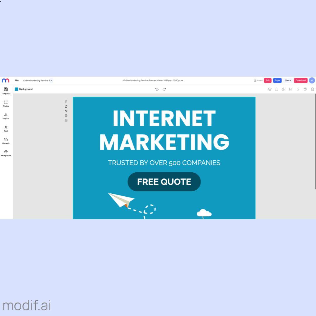 Online Marketing Service Banner Maker