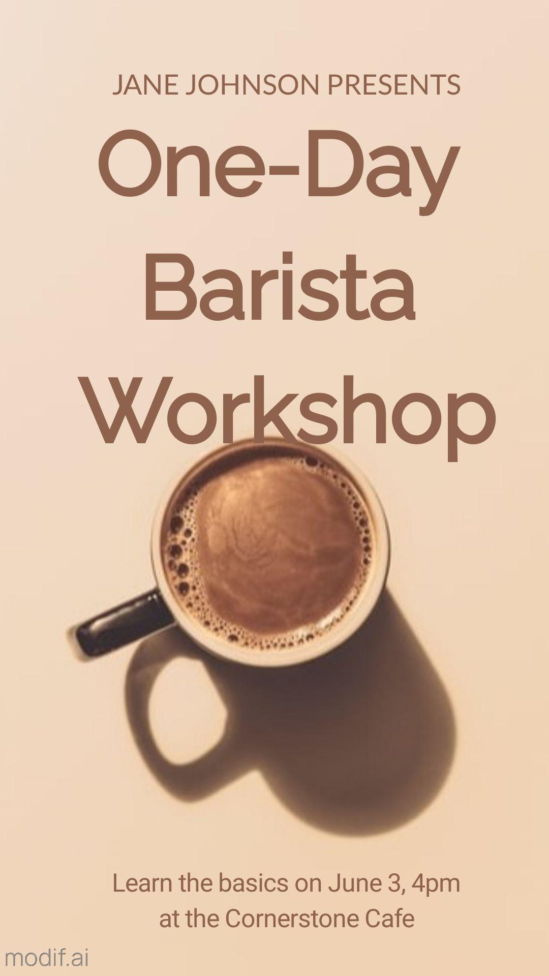 Coffee Workshop Instagram Story Maker