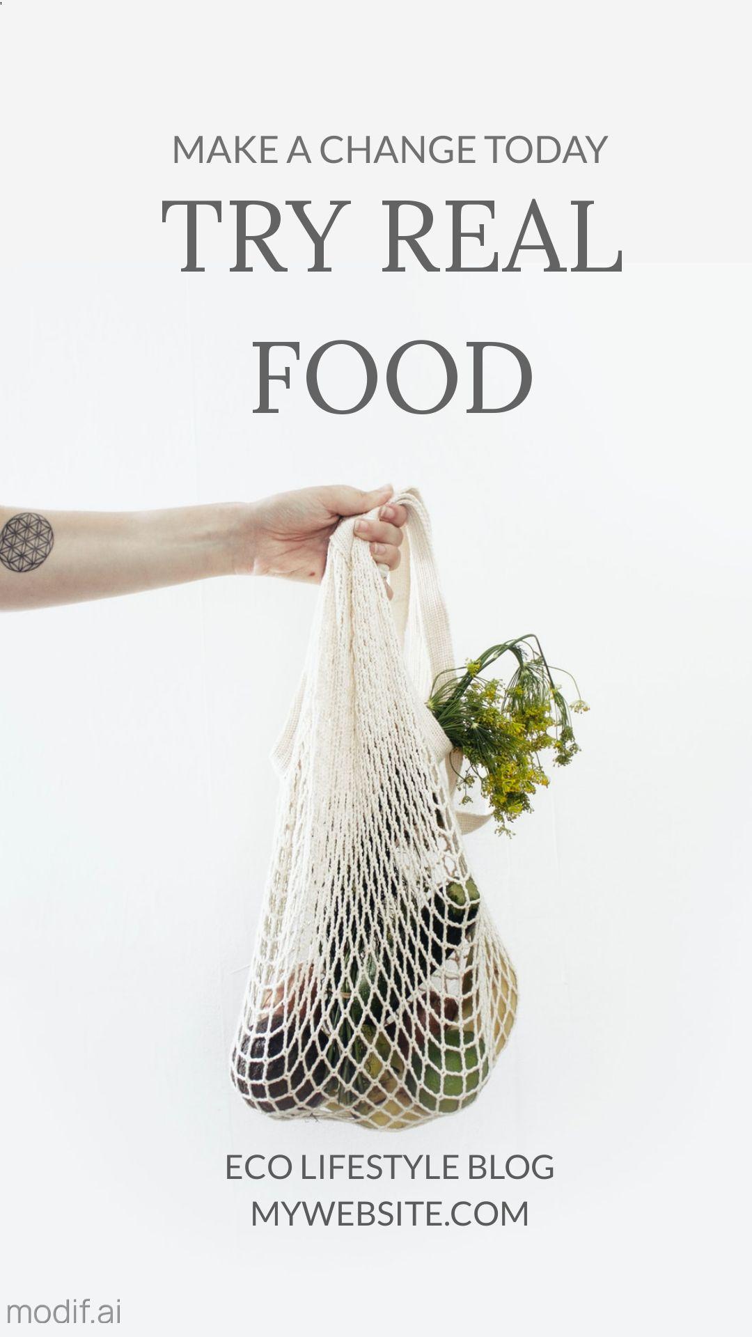 Eco Food Ad Instagram Story Maker