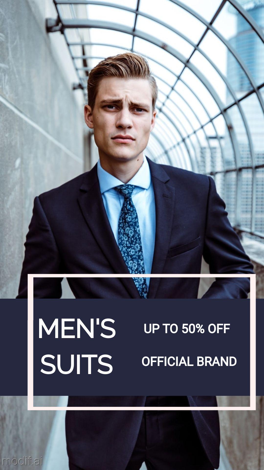 Mens Fashion Suit Instagram Story Maker