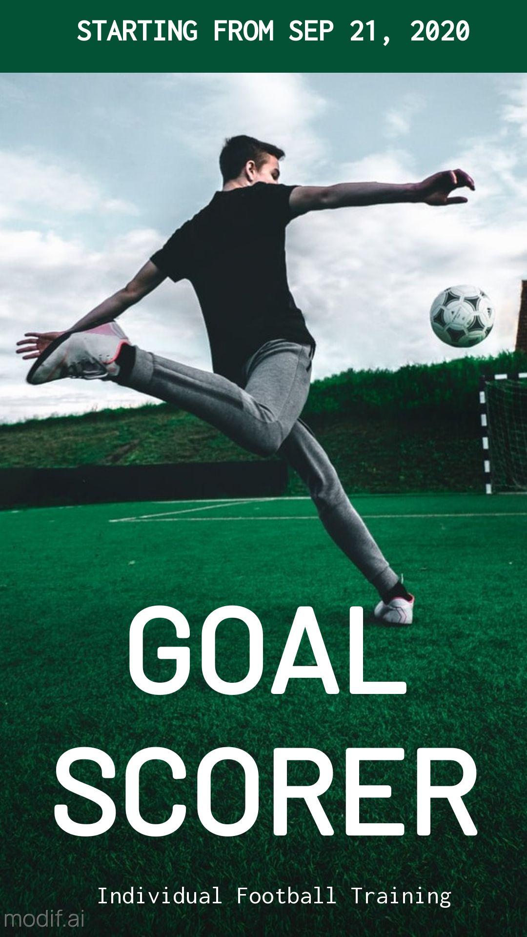 Soccer Training Instagram Story Maker