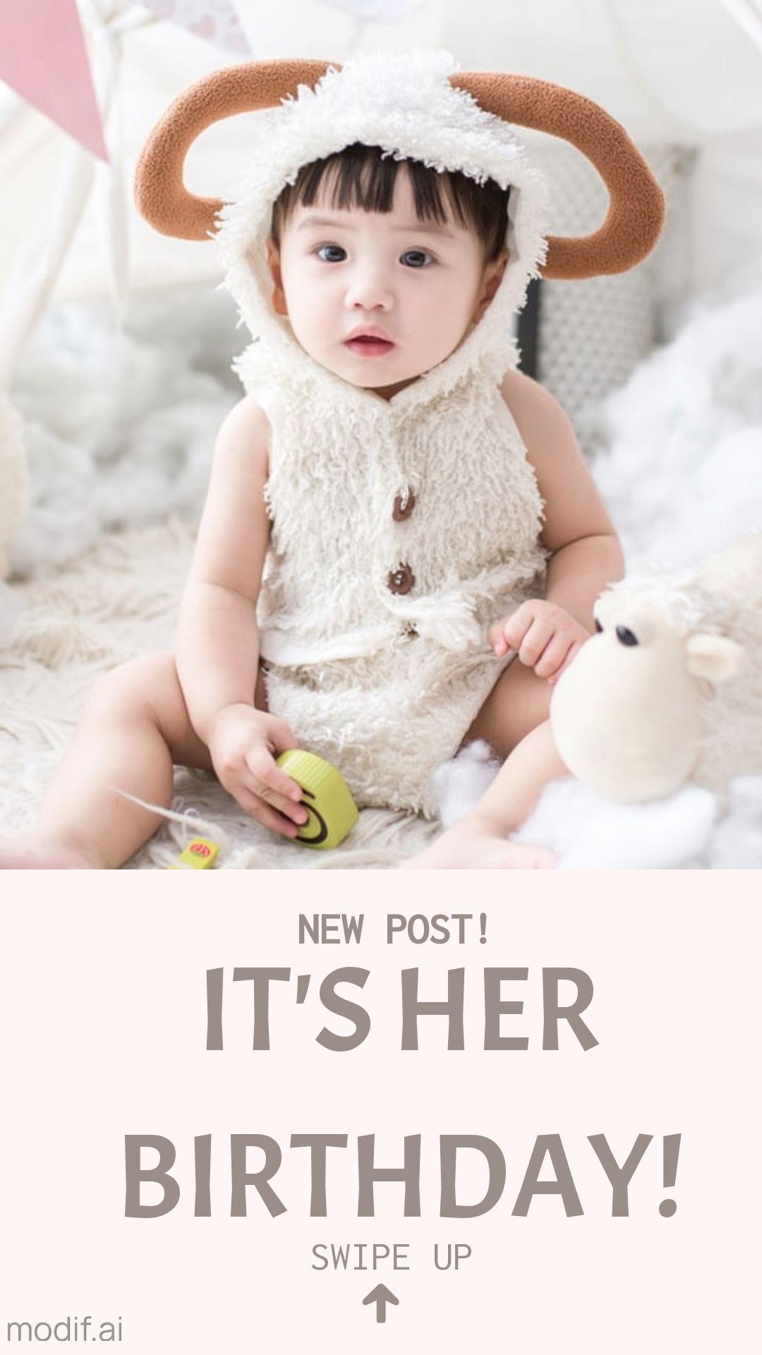 Baby Birthday Party Instagram Story Maker