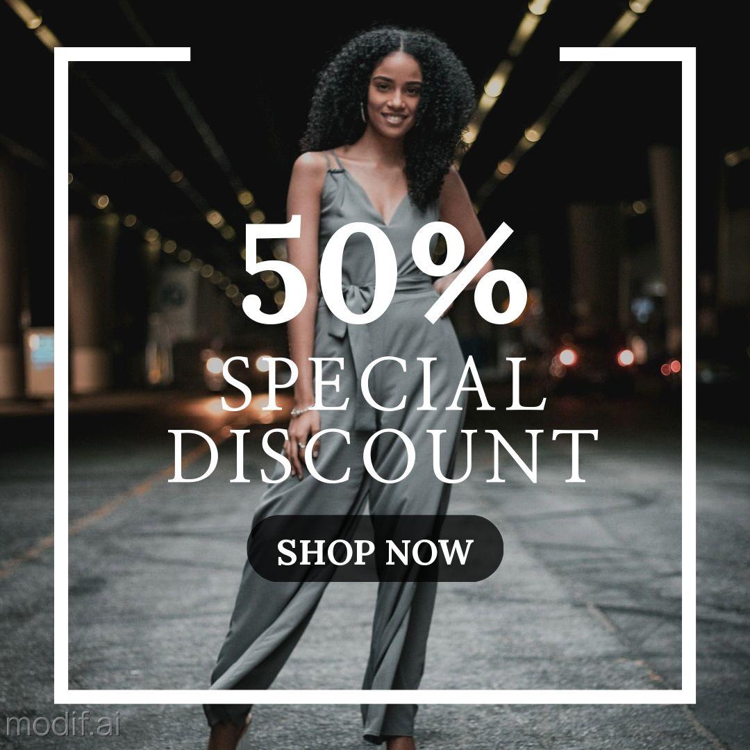 Fashion Discount Sale Banner Maker