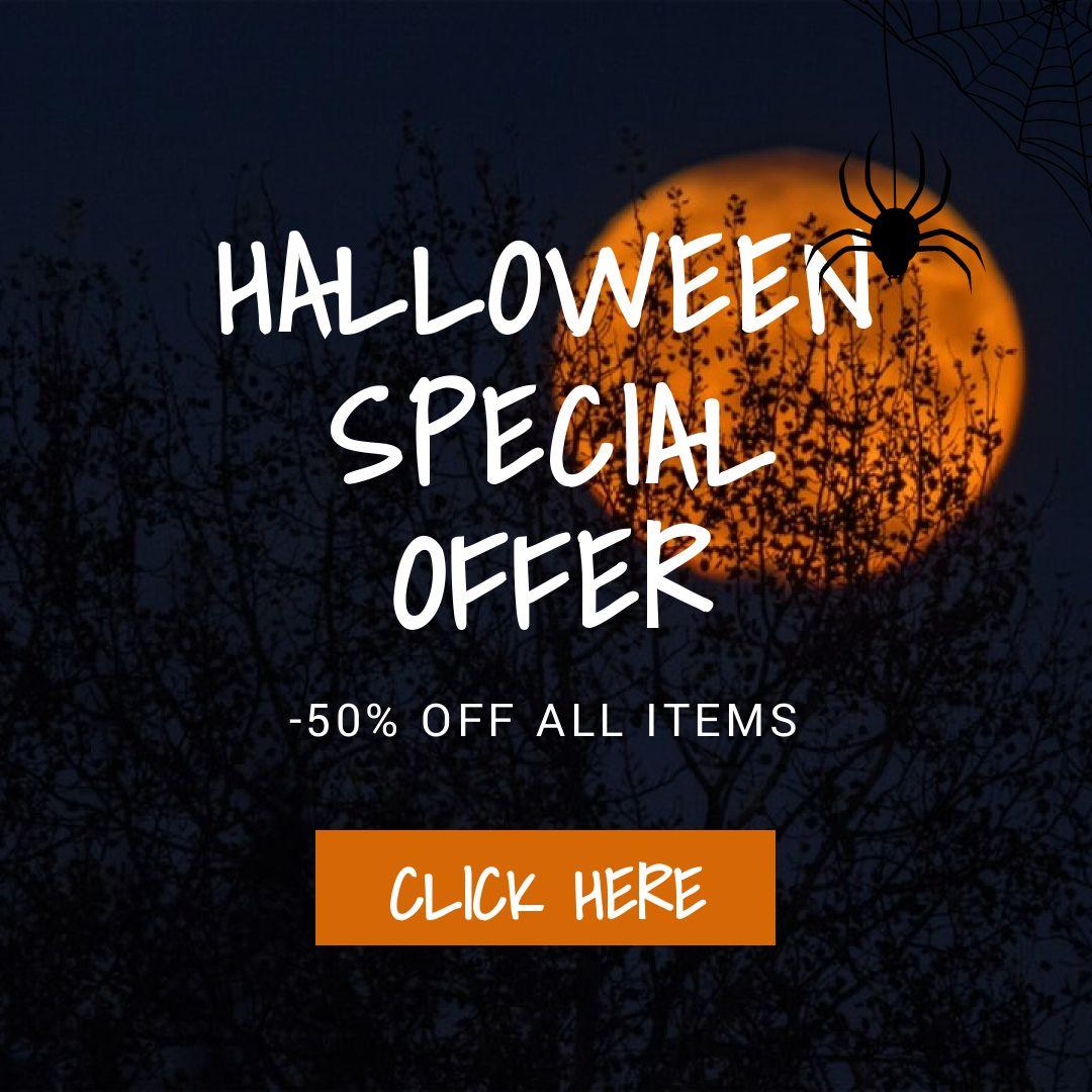 Halloween Discount Sale Banner Maker