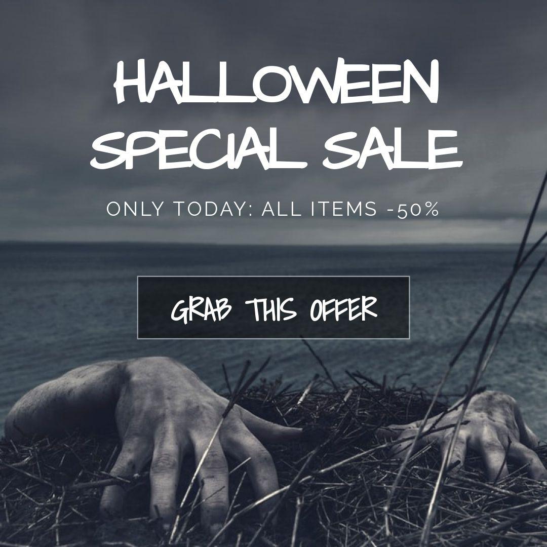 Halloween Zombie Discount Banner Maker