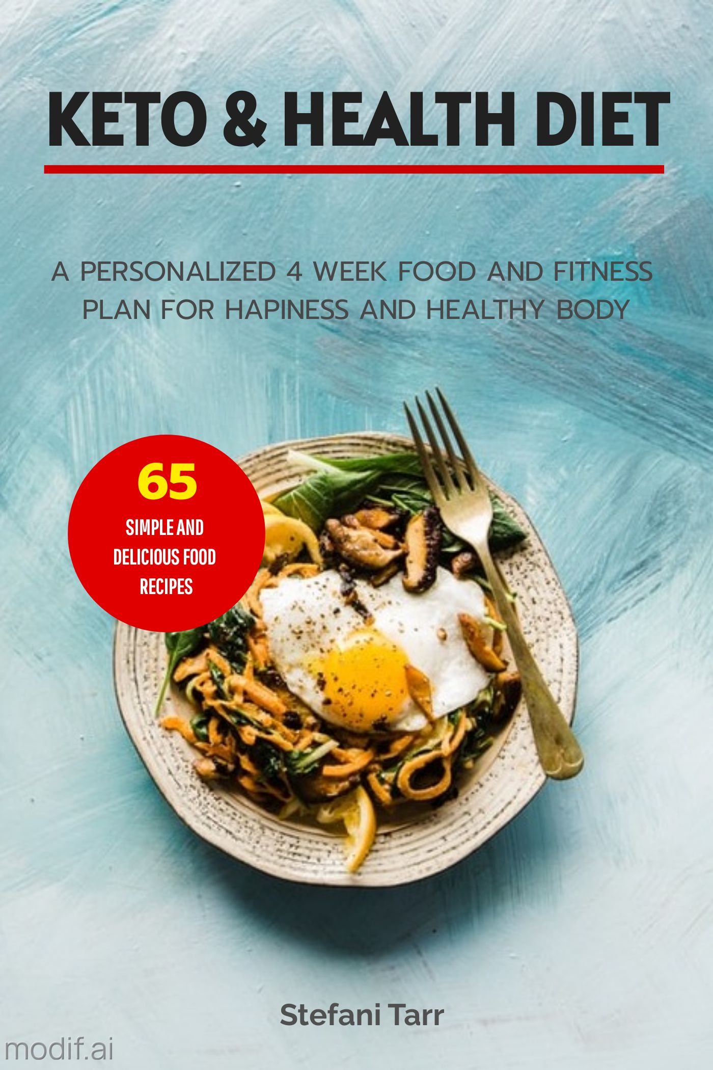Healthy Recipe Book Cover Template