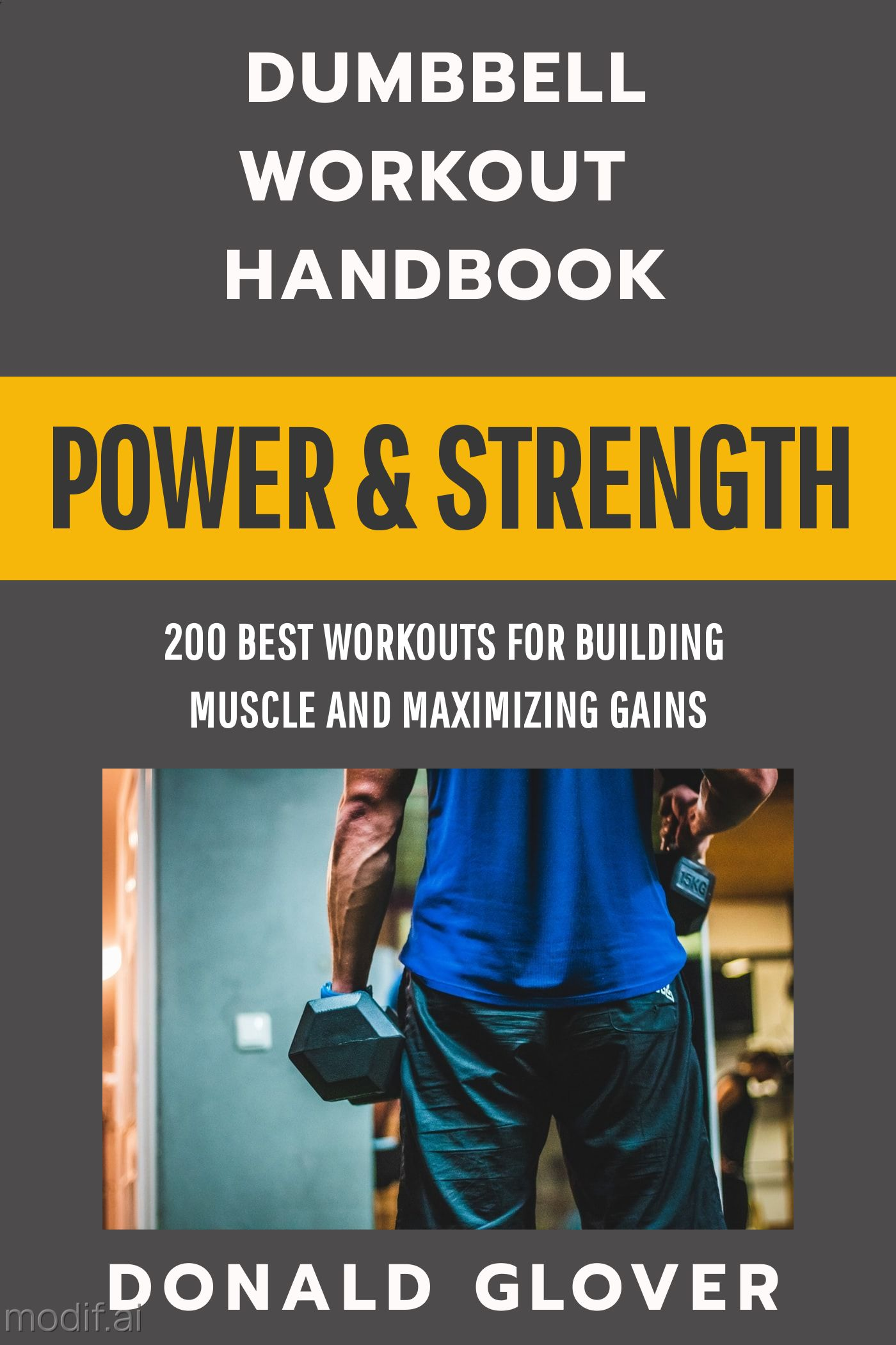 Power and Strength Workout Book Cover Maker