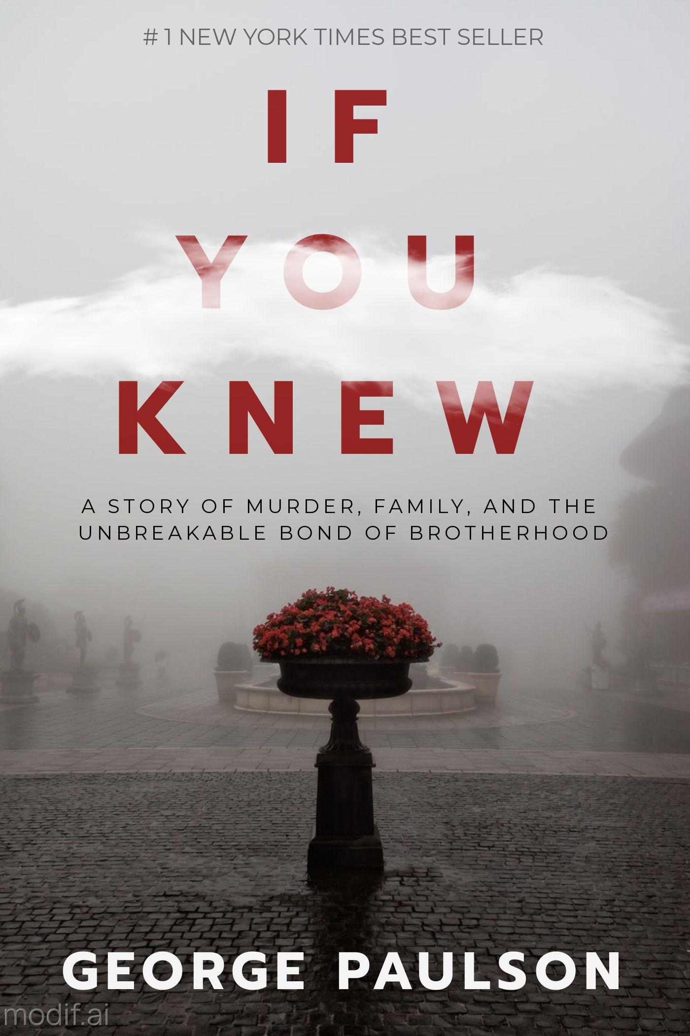 Dark Murder Mystery Book Cover Maker