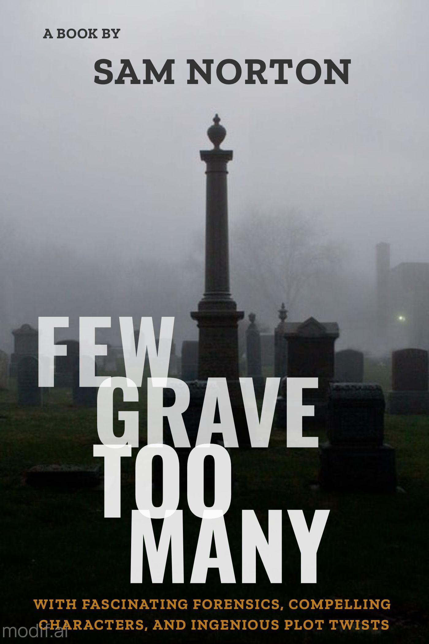 Graveyard Mystery Book Cover Maker