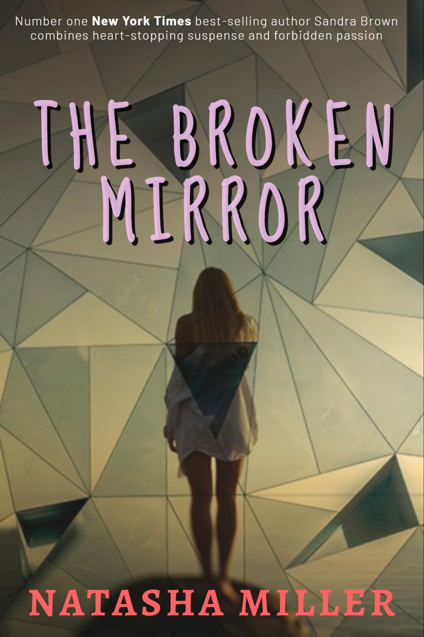 Broken Mirror Book Cover Maker
