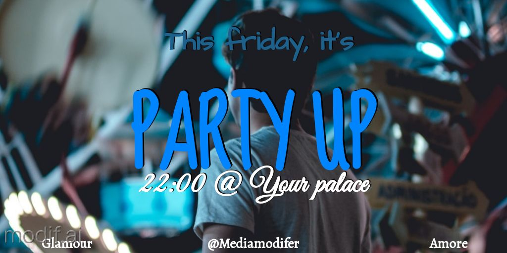Twitter Party Weekend Post Design