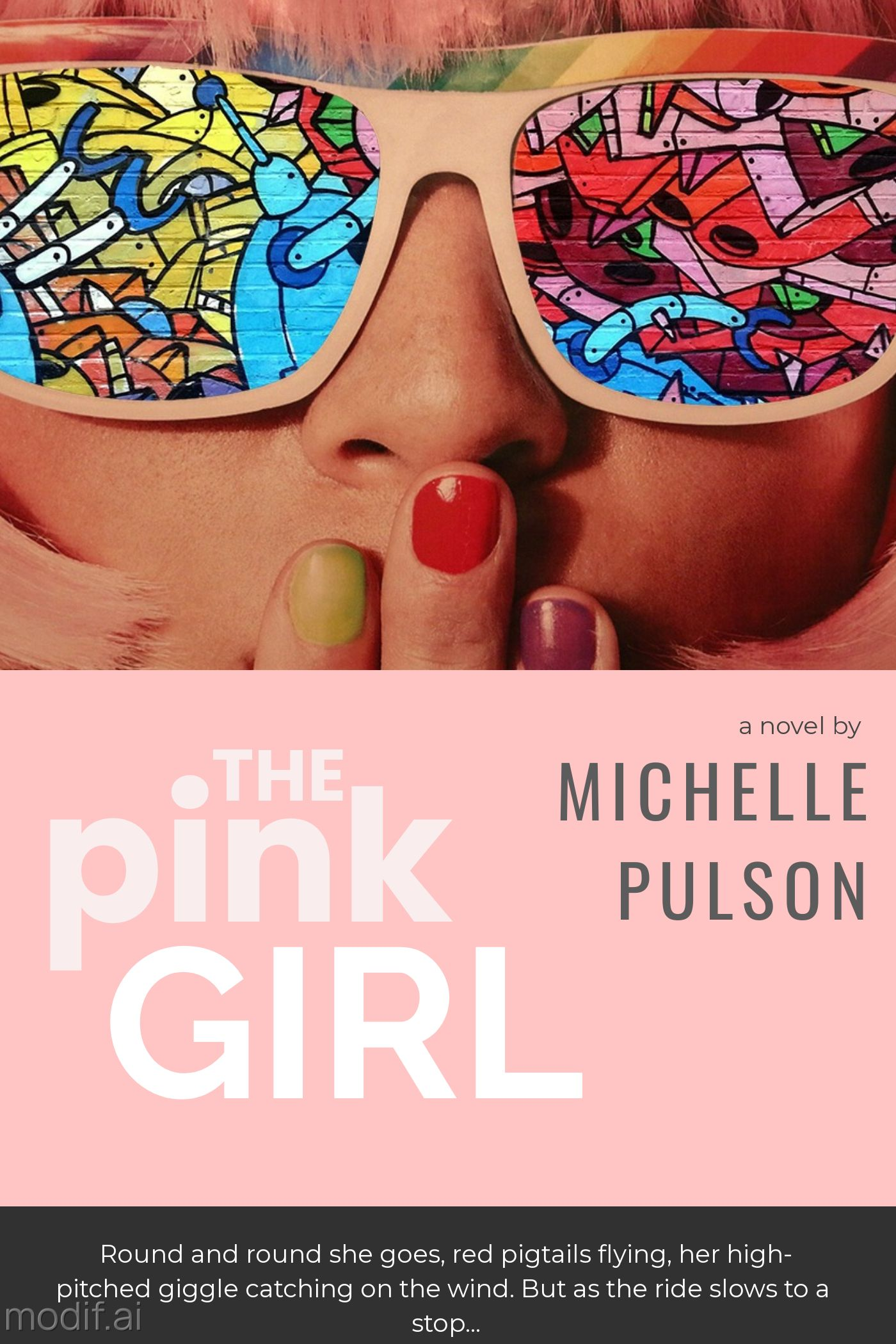 Pink Girl Mystery Book Cover Template