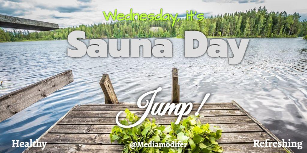 Twitter Wednesday Sauna Day Post Design