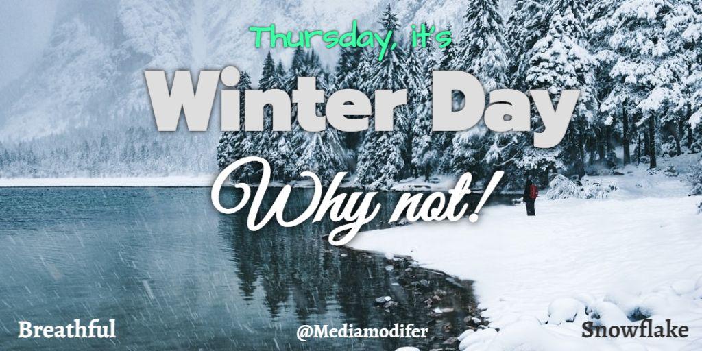 Twitter Thursday Winter Day Post Design