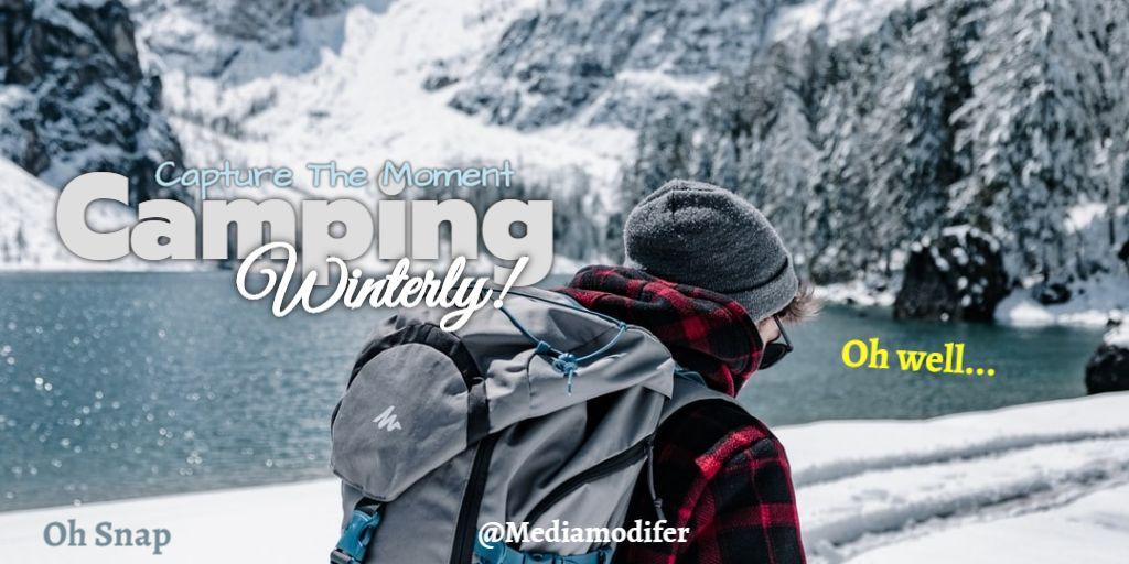 Twitter Winter Camping Post Design