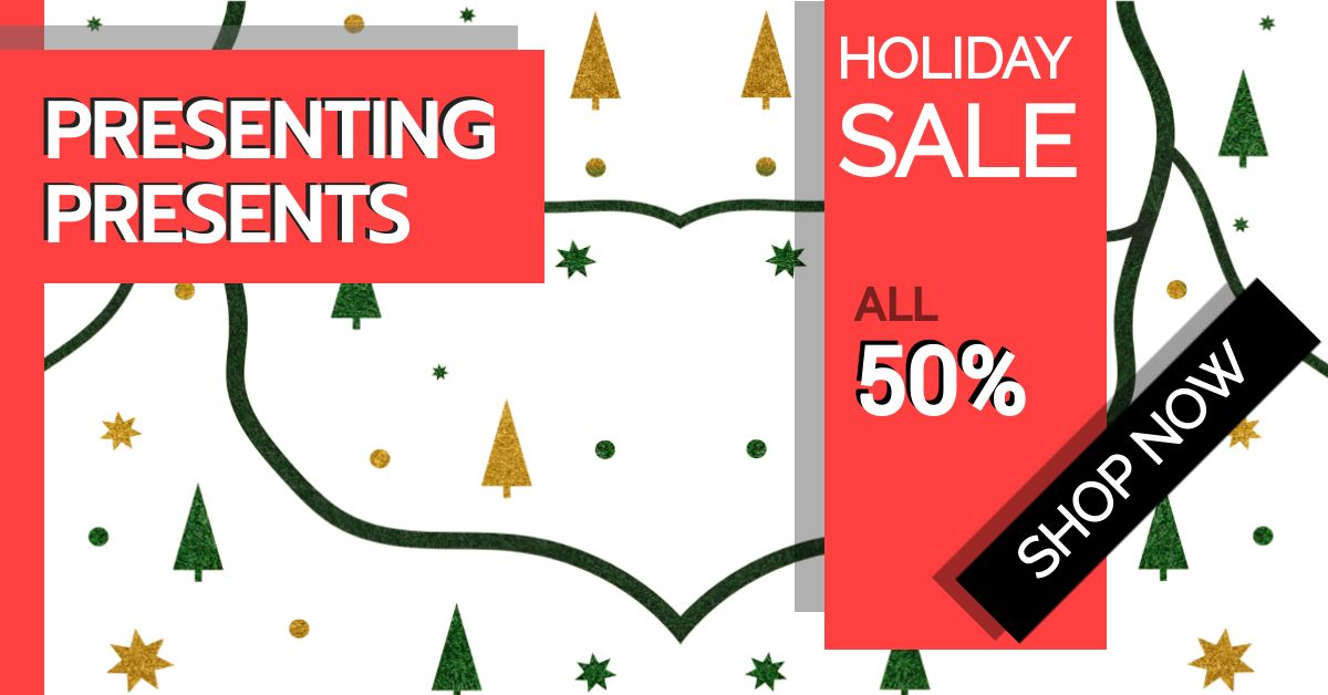 Christmas Holiday Sale Banner Template