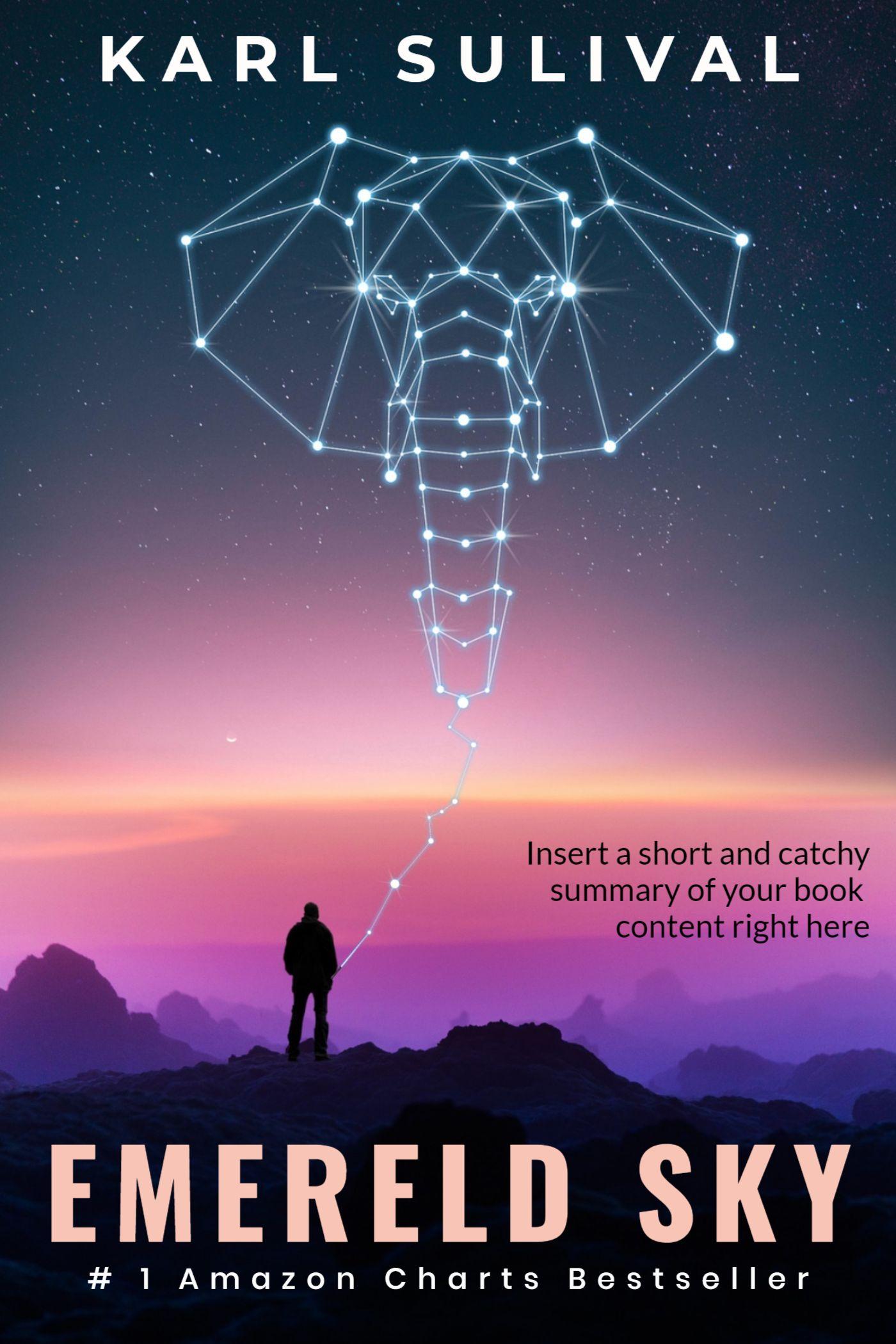 Emerald Sky Novel eBook Cover Template