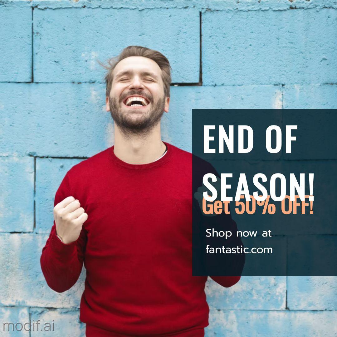 End of Season Discount Instagram Post