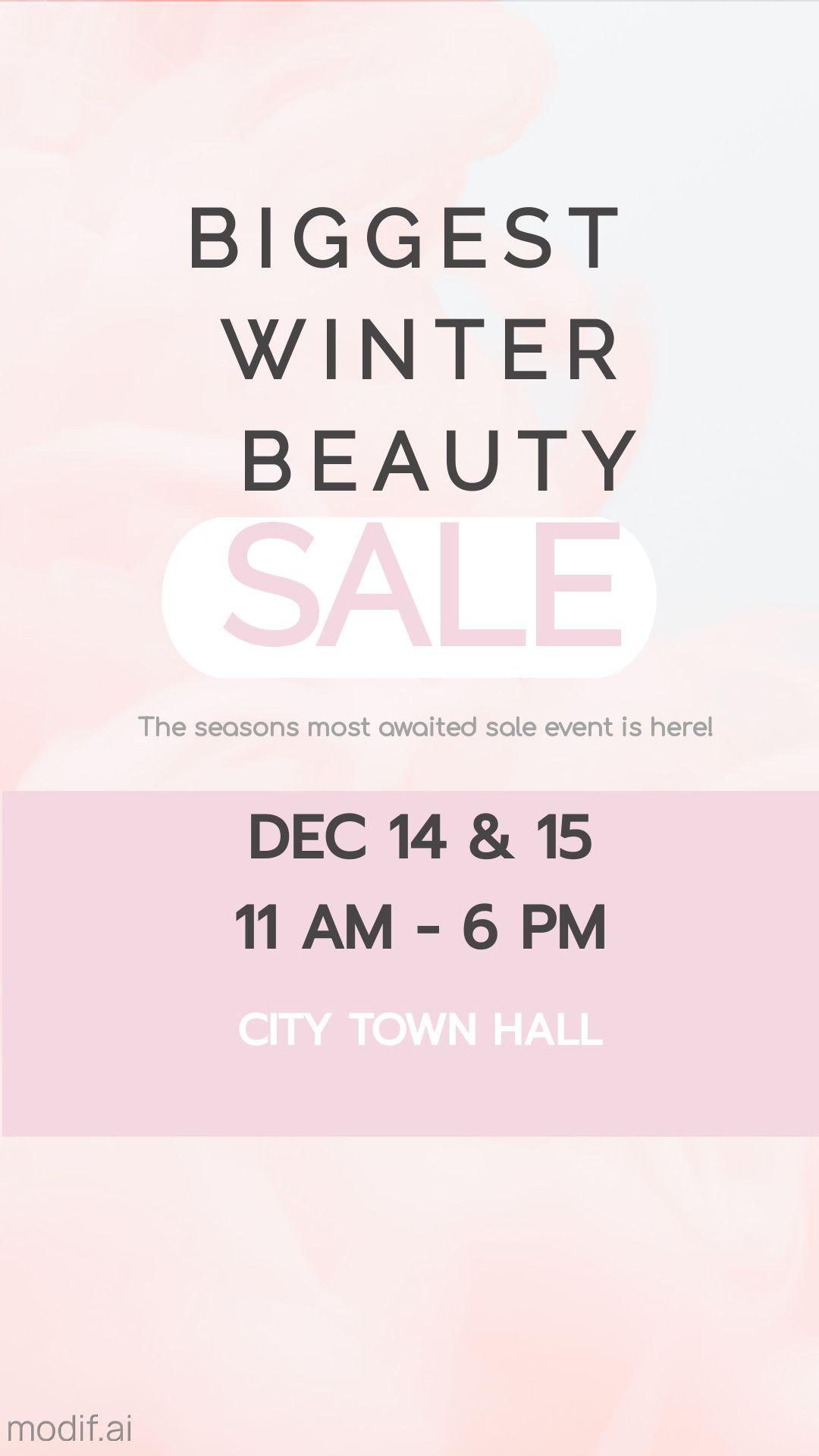 Winter Beauty Sale Instagram Story Template