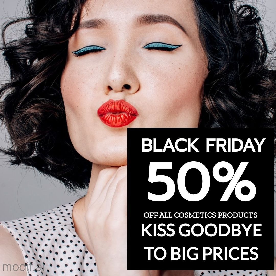 Black Friday Cosmetics Sales Offer Instagram Post