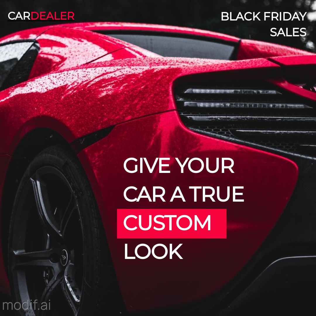 Car Service Ad Banner Template