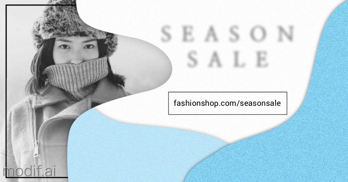 Season Sale Wide Winter Banner Template