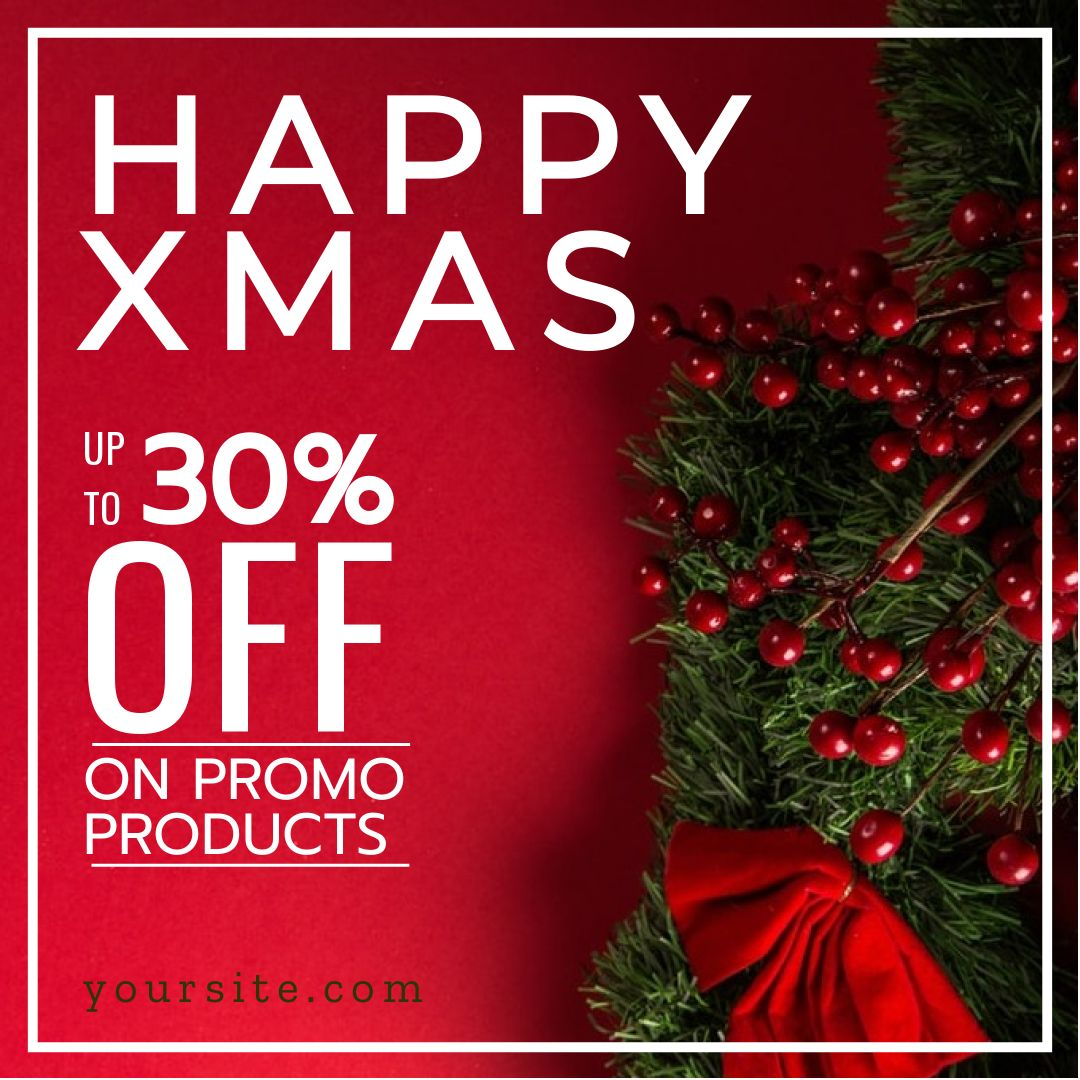 Happy Holiday Discount Banner Template