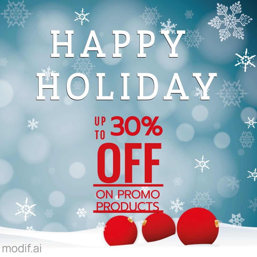 Happy Holiday Discount Banner Instagram Post