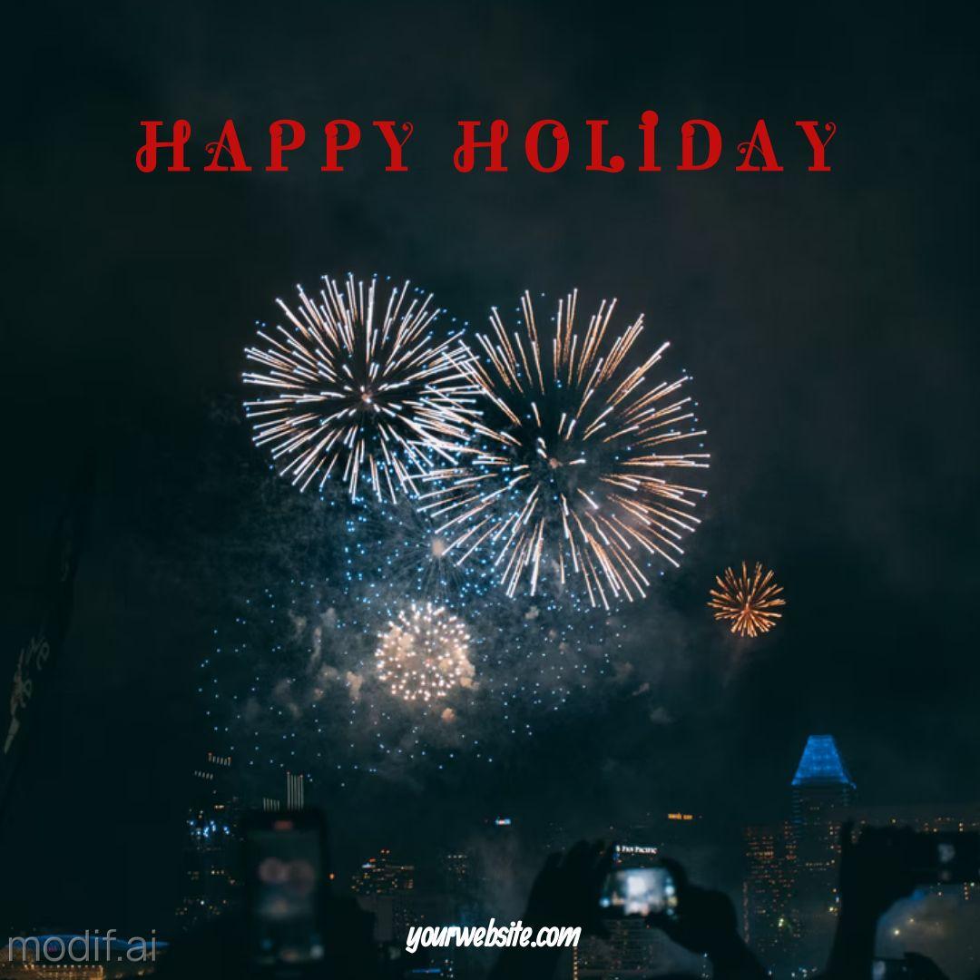 Happy Holiday Greetings Instagram Post