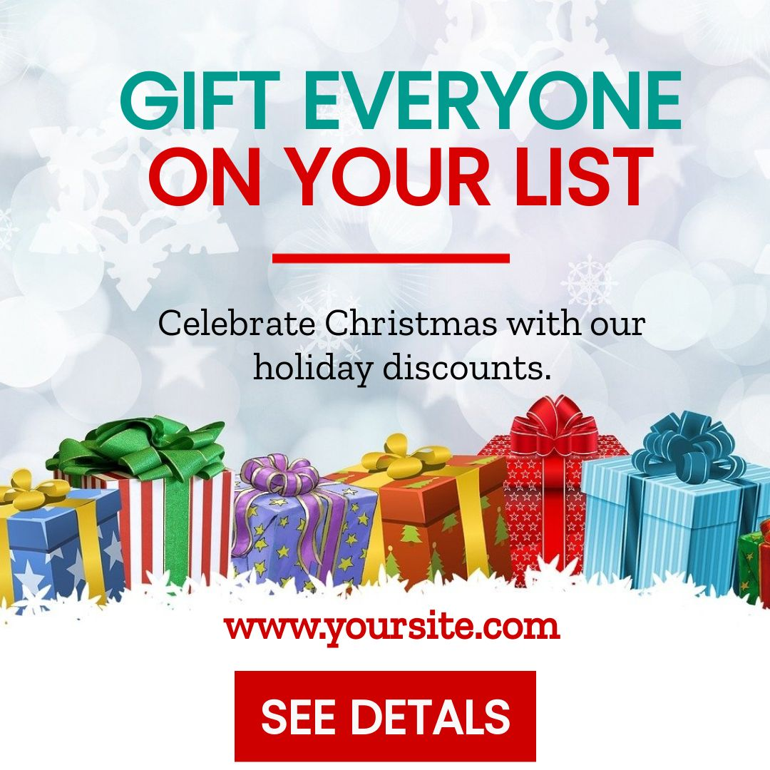 Christmas Holiday Discount Banner Template