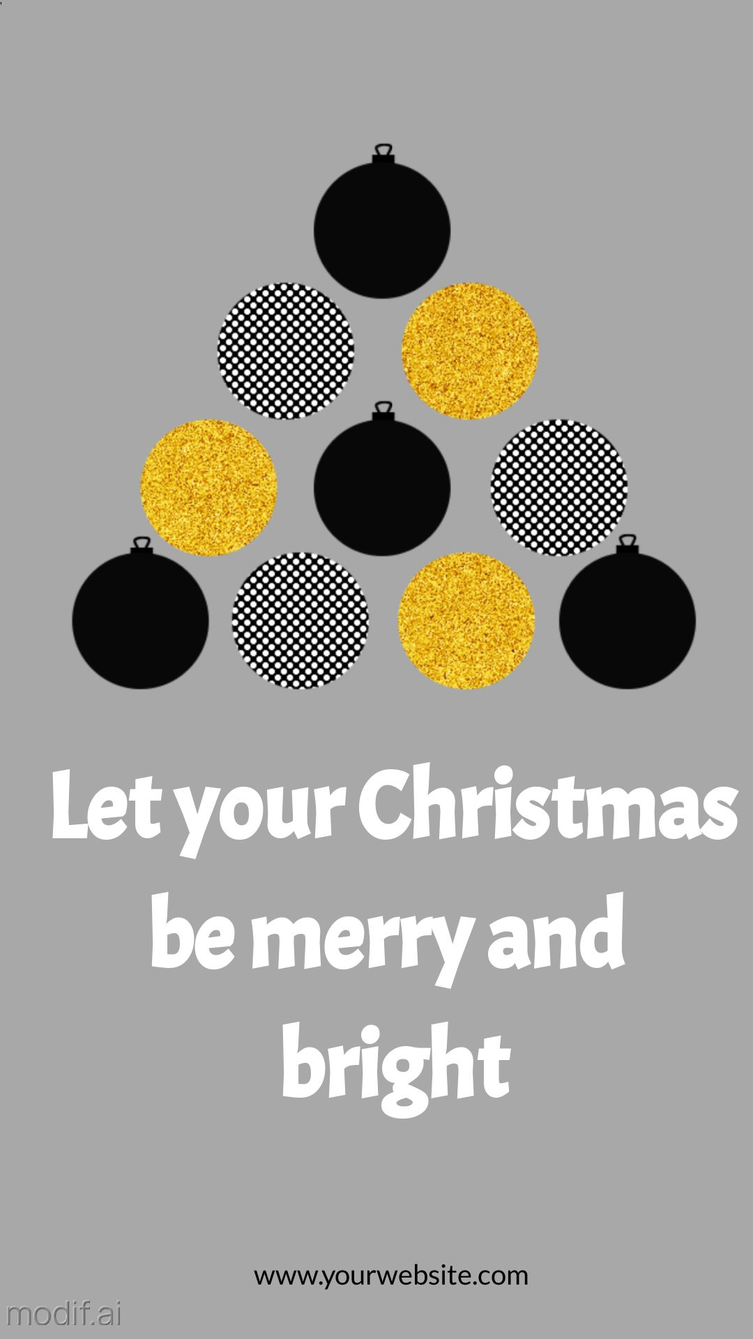 Christmas Tree Wish Card Instagram Story Template
