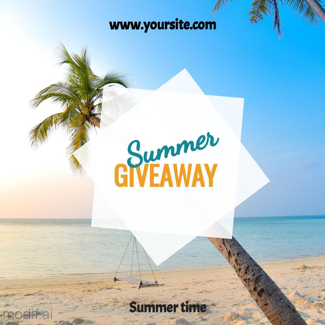 Summer Giveaway Instagram Post