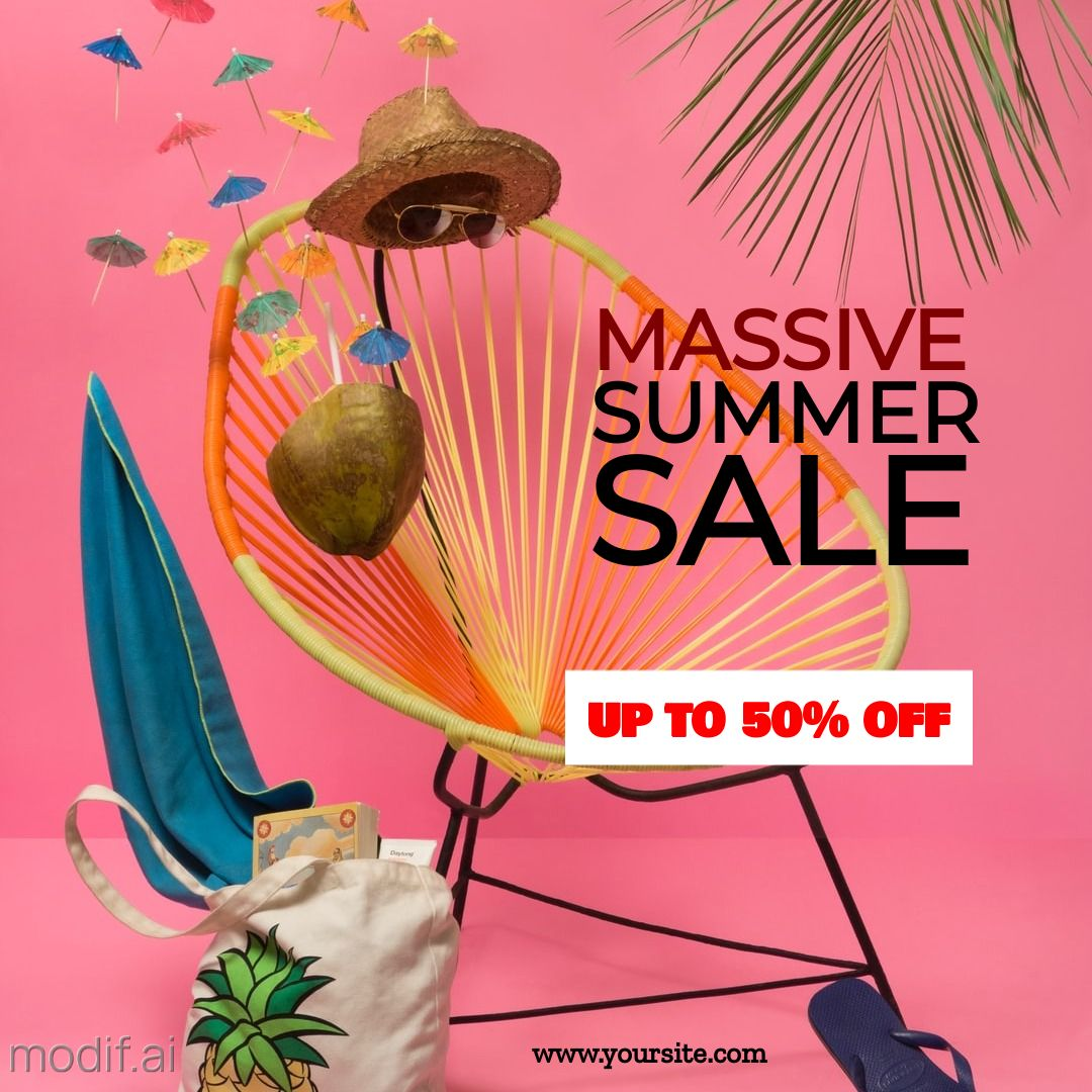 Summer Sale and Discount Offer Instagram Post
