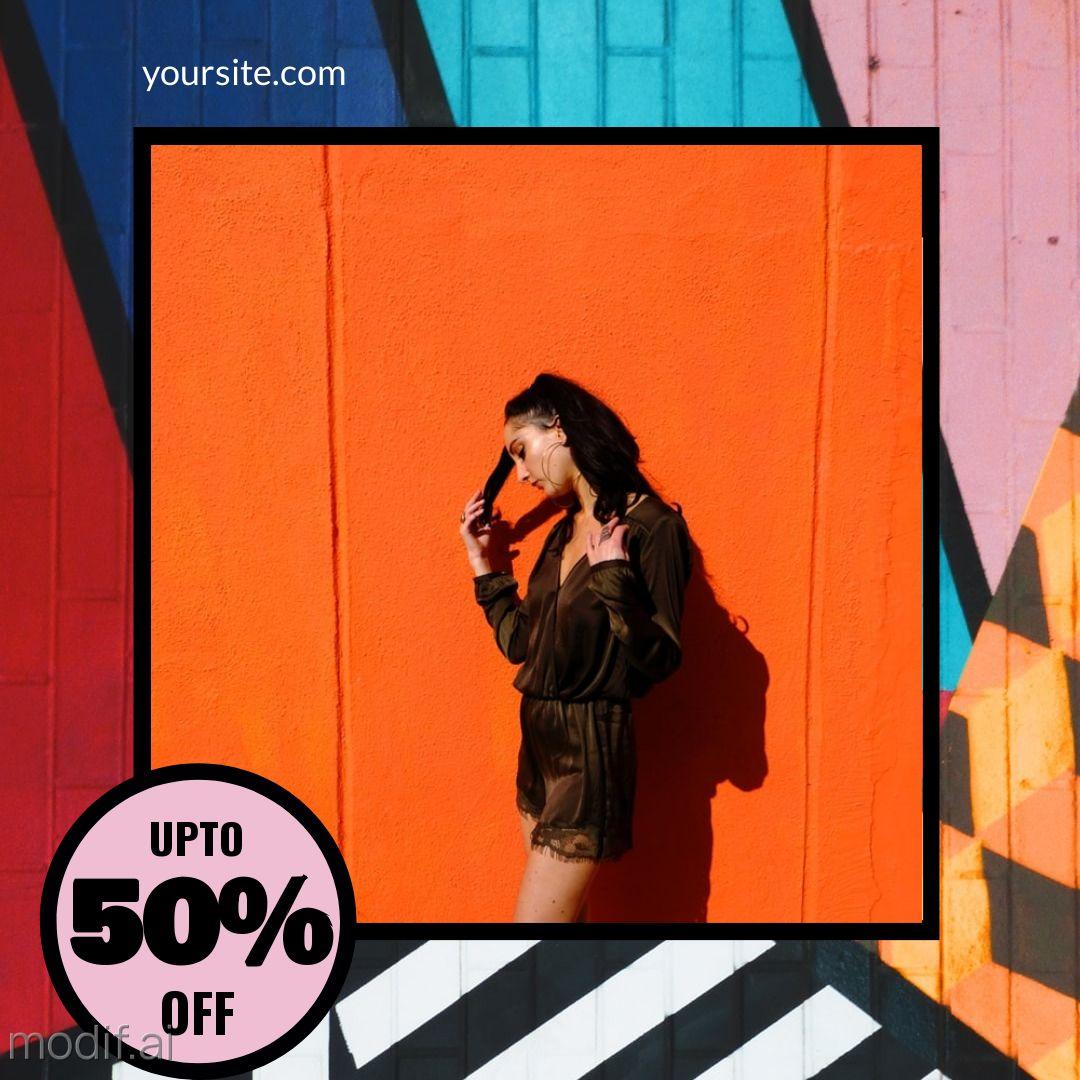 Fashion Discount Sale Instagram Post Maker