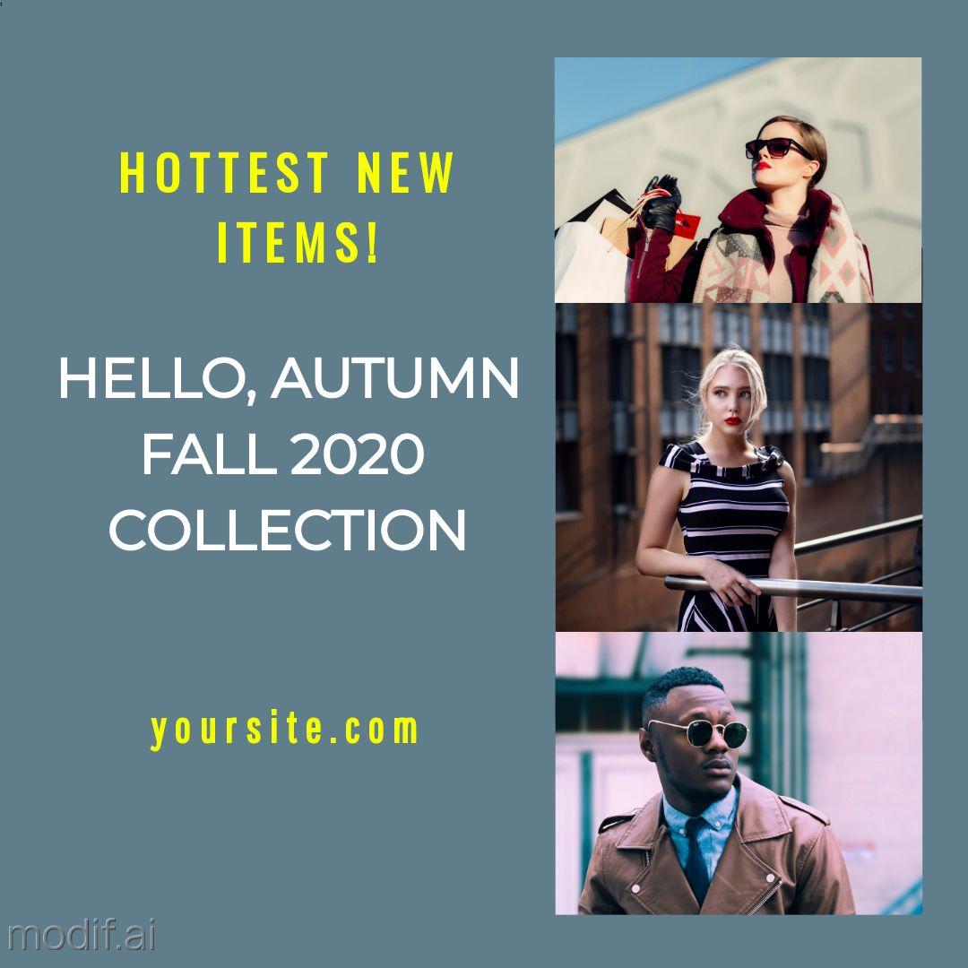 Autumn Fall Fashion Instagram Post
