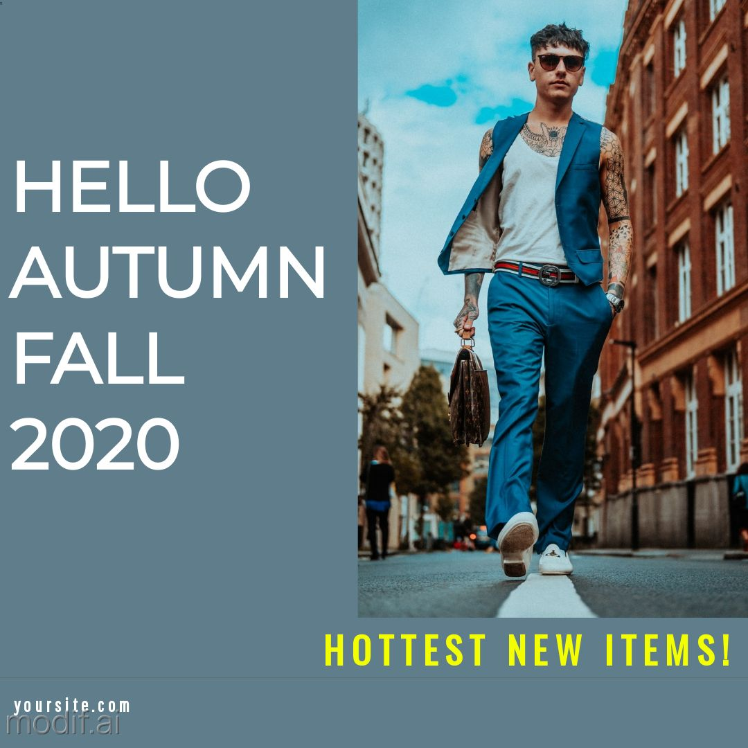 Autumn Fall Clothing and Fashion Instagram Post