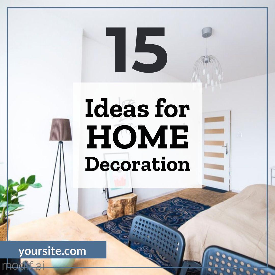 Home Decoration Idea Instagram Post Maker