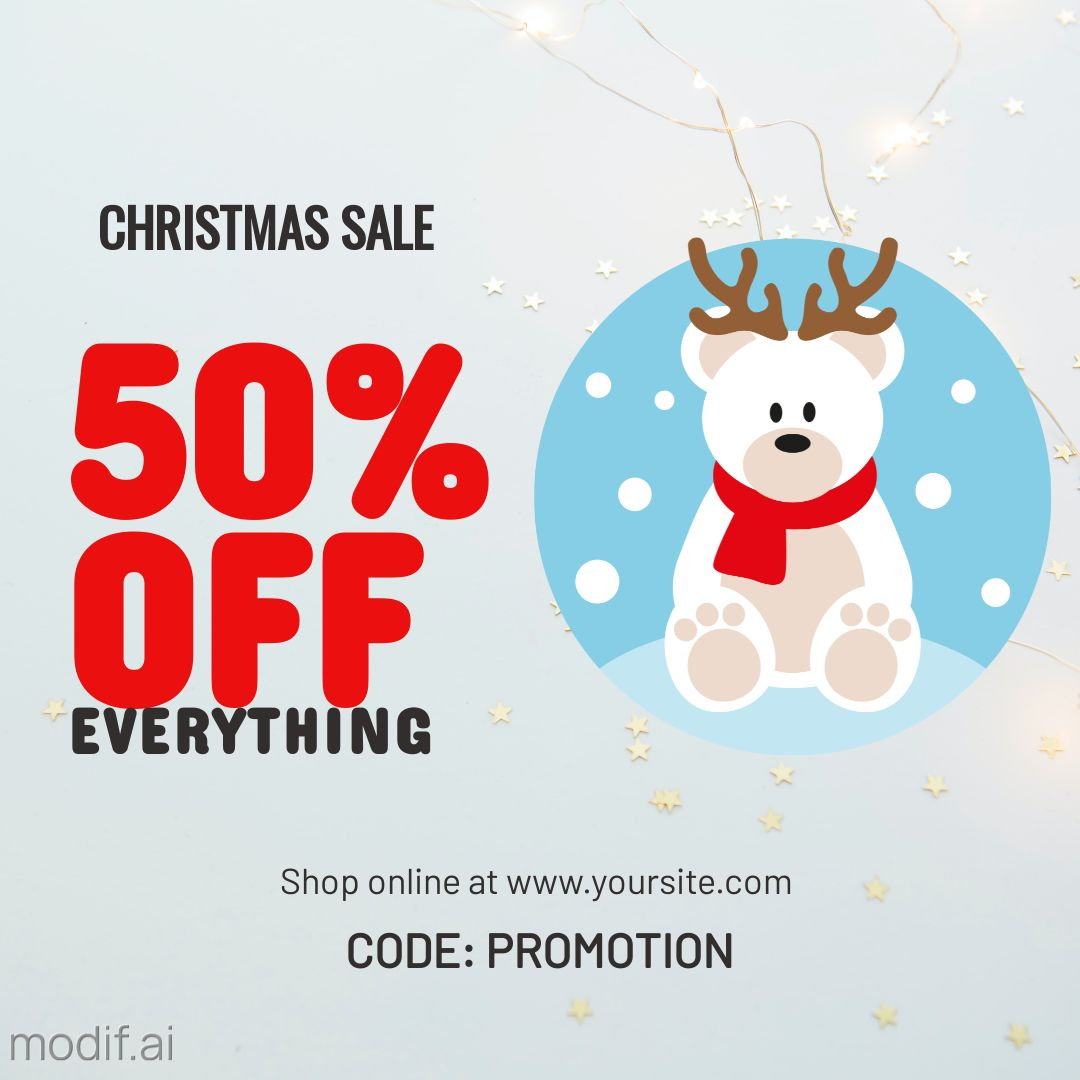 Christmas Discount Offer Instagram Post Template