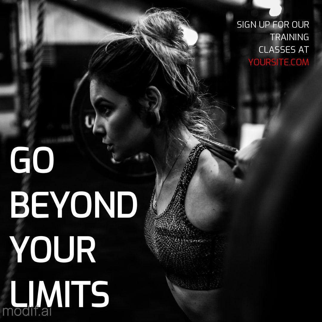 Womens Workout Instagram Post Maker