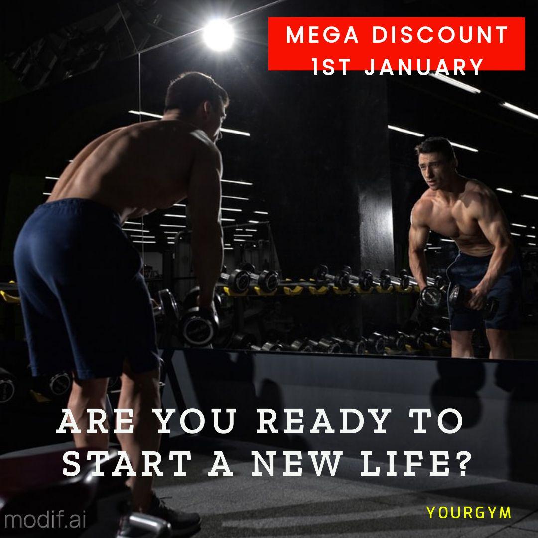 Mens Fitness and Gym Instagram Post Maker
