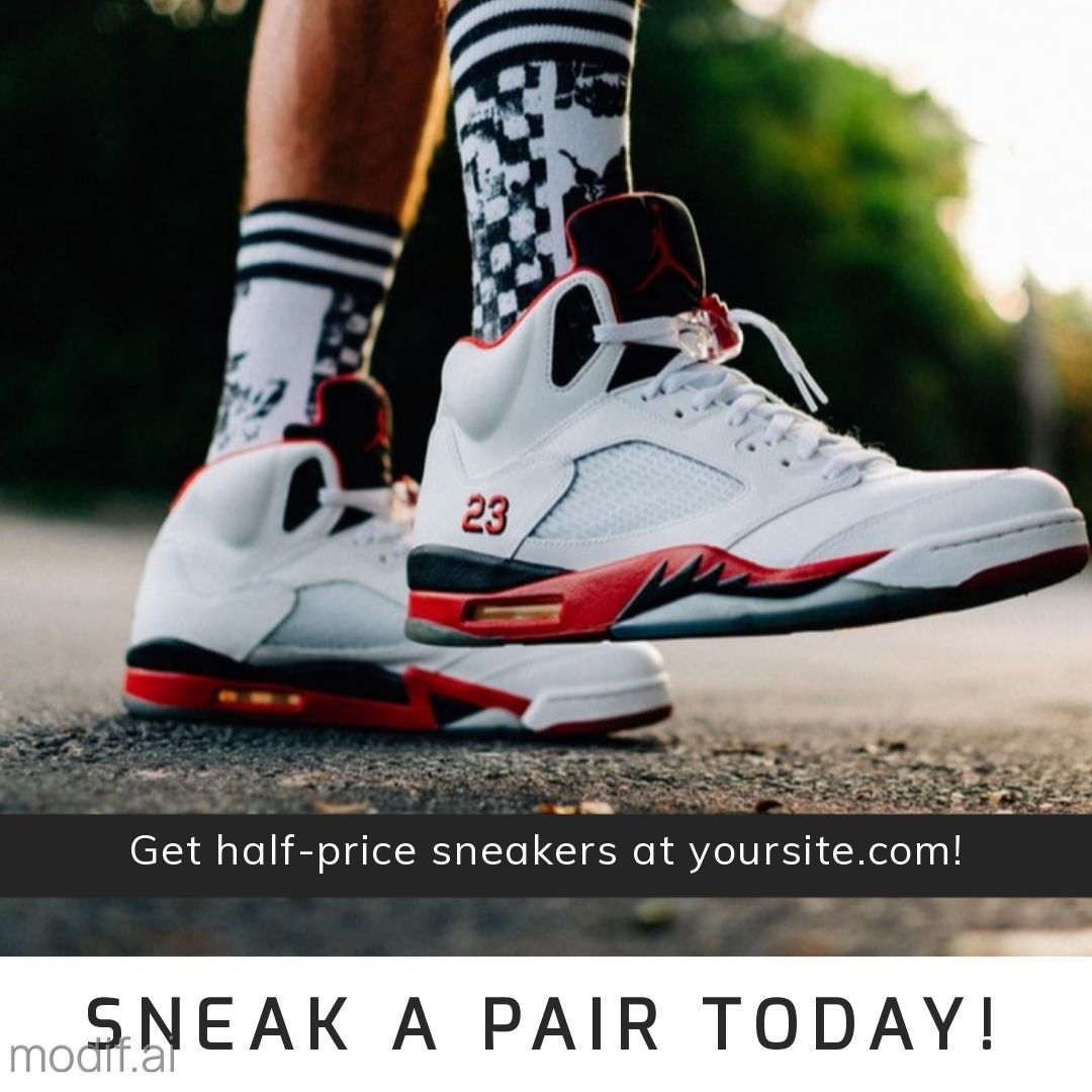 Sneaker Promotion Instagram Post Maker
