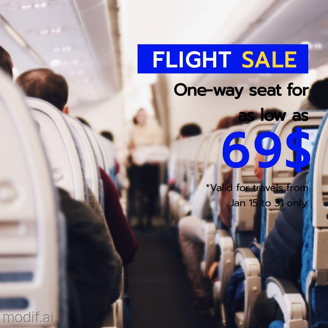 Airplane Travel Tickets Instagram Post Maker