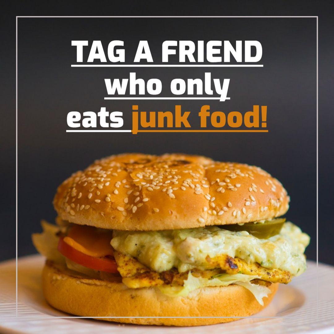 Tag a Friend Junk Food Facebook Post Maker