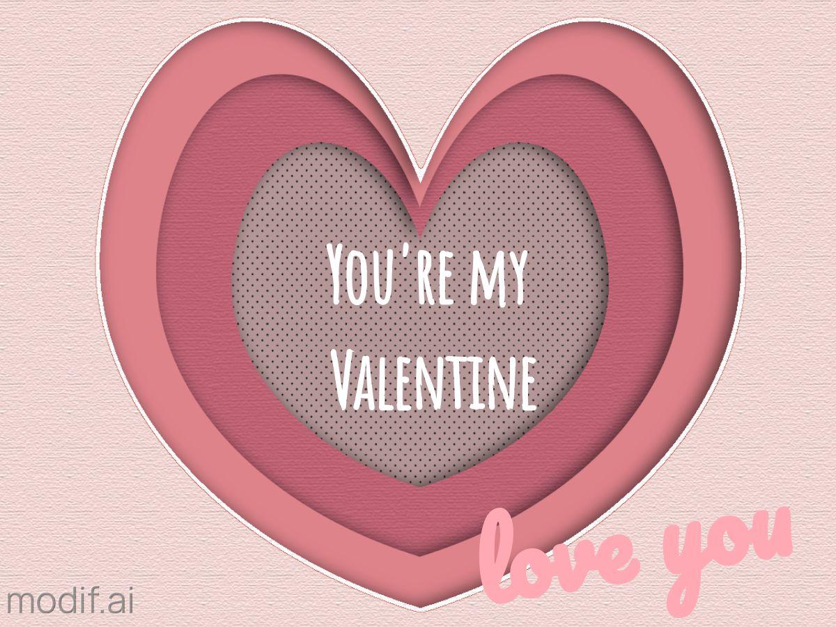 Valentine Heart Facebook Post Design Template